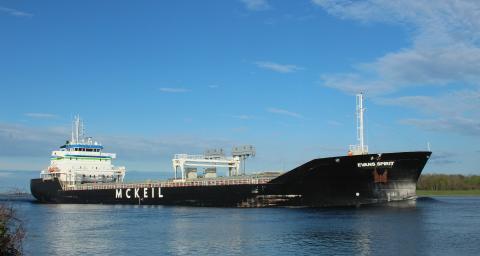 McKeil ship, the Evans Spirit, is named after founder Evans McKeil.