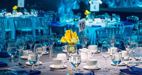 Waterkeeper Gala elegant dinner table