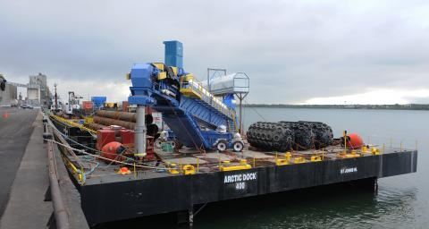 The Arctic Dock barge is part of McKeil's Project Fleet.