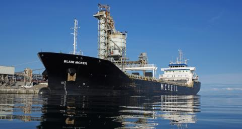 Image of the bulk carrier, Blair McKeil.