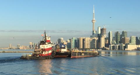 The Vigilant I in Toronto Harbour
