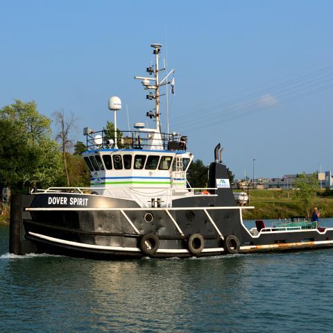 Image of McKeil Marine tug, the Dover Spirit.