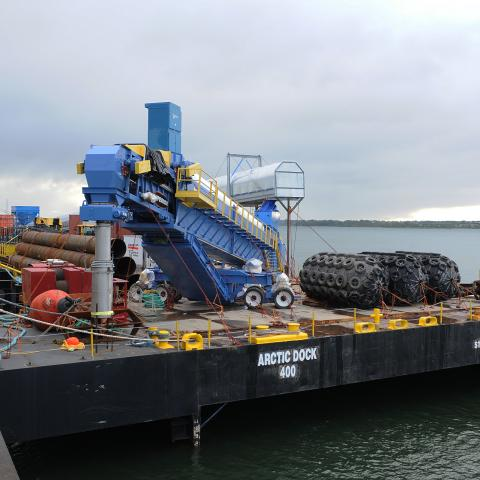 The Arctic Dock barge is part of McKeil's Project Fleet.