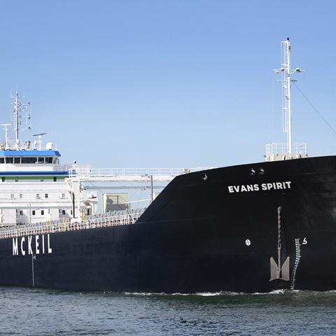 Image of Evans Spirit, a bulk carrrier in McKeil's Transporation Fleet.