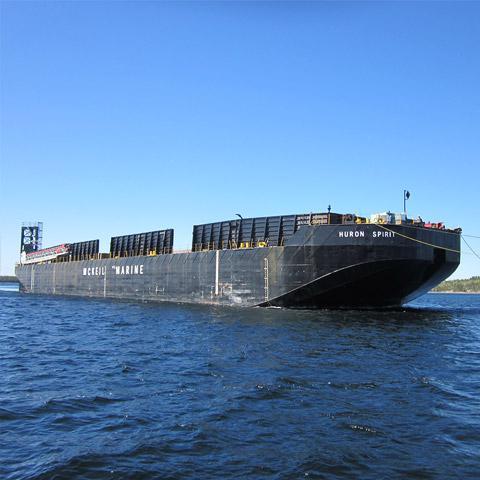 Image of Huron Spirit Barge of Mckeil Marine's Transportation Fleet.