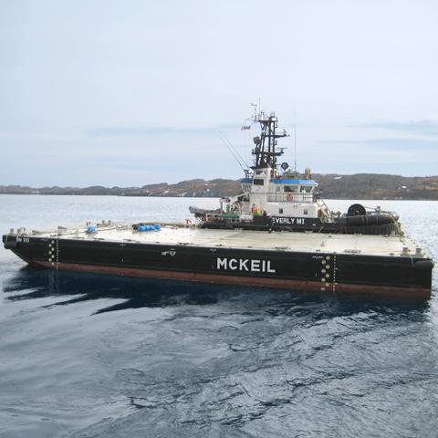 Image of new MM 110 Barge Mckeil Marine