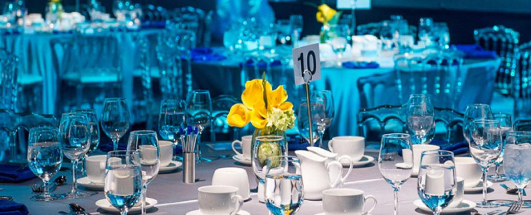Waterkeeper Gala elegant dinner table
