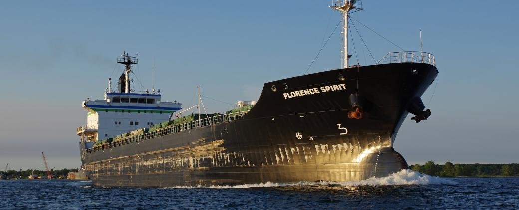 Image of McKeil Marine bulk carrier, the Florence Spirit.