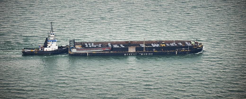 Image of Huron Spirit Barge of Mckeil Marine's Transportation Fleet.