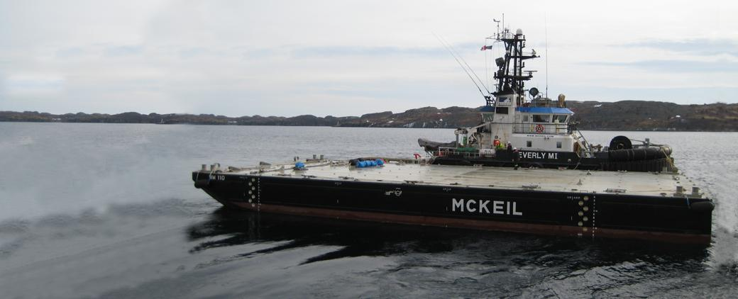 Image of new MM 110 Barge Mckeil Marine