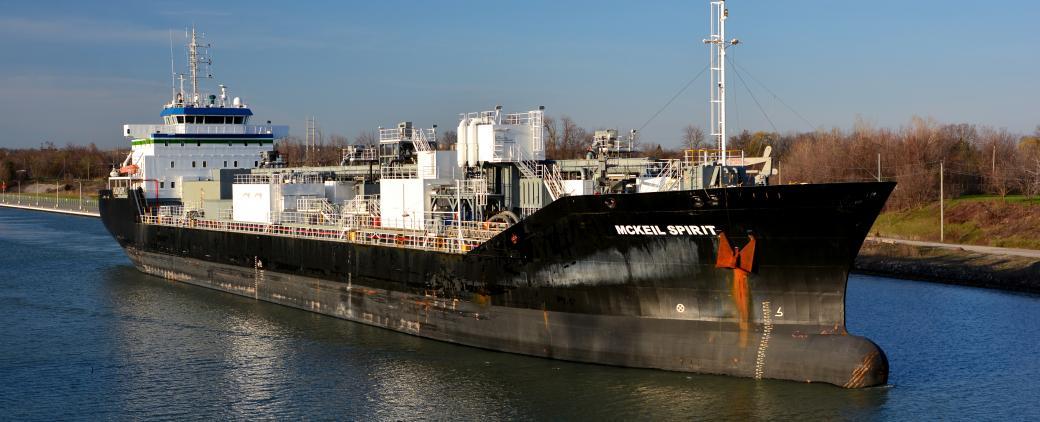 McKeil Spirit, a bulk carrier, on the water.