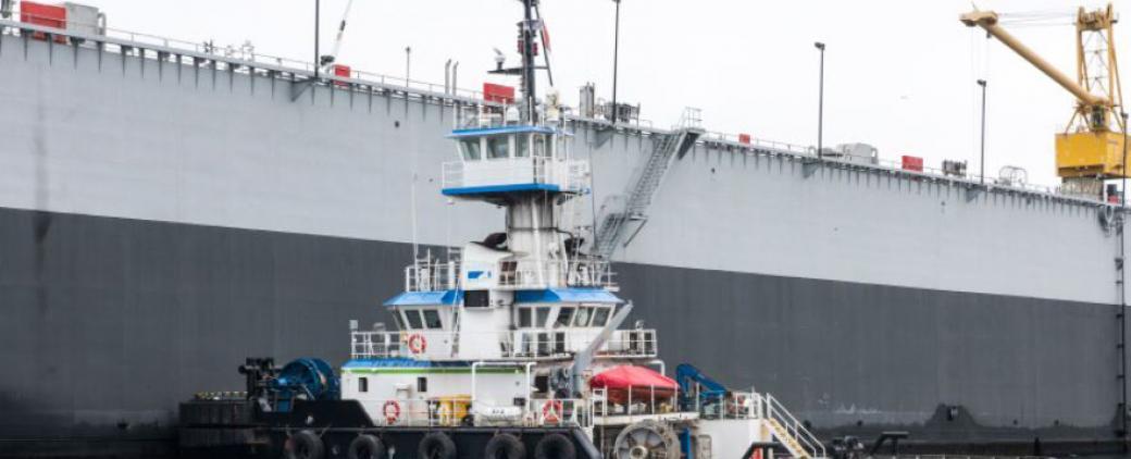 Image of McKeil Marine's tug, the Tim McKeil.