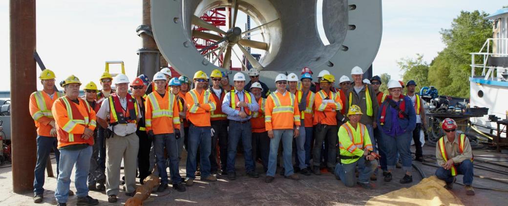 Installation d'une turbine hydraulique